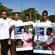 TAMA midwives posing for a photo before the #IDM2019 rally in Bariadi, Simiyu