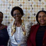 From left to right: Feddy Mwanga (TAMA President), Stella Mpanda (TAMA Member), and Sebalda Leshabari (TAMA General Secretary)